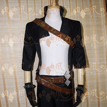 Katarina Male Version Cosplay Costume Halloween Uniform Outfit T-shirt+Coat+Pants+Belt+Gloves+Wristband Custom-made