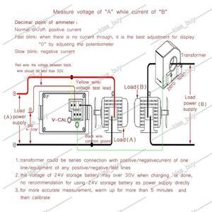 Image 5 - Dykb DC 0 ~ 600V 0 500A אולם מד מתח מד זרם תצוגה כפולה דיגיטלי LED מתח הנוכחי מד פריקת מטען סוללה צג