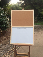 Free Shipping Natural Wood Frame Memo Cork Board Kitchen Office Supplier 60 40cm Factory Direct Sell
