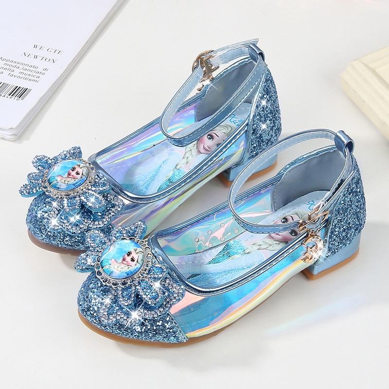 AIBAB Girls Shoes Single Shoes Crystal Princess Shoes Sequin Flat Shoes Ballet Shoes