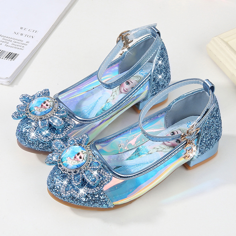2019 new Girls Princess shoes childrens high heels spring and autumn new single shoes Frozen crystal shoes EU size 26-362019 new Girls Princess shoes childrens high heels spring and autumn new single shoes Frozen crystal shoes EU size 26-36