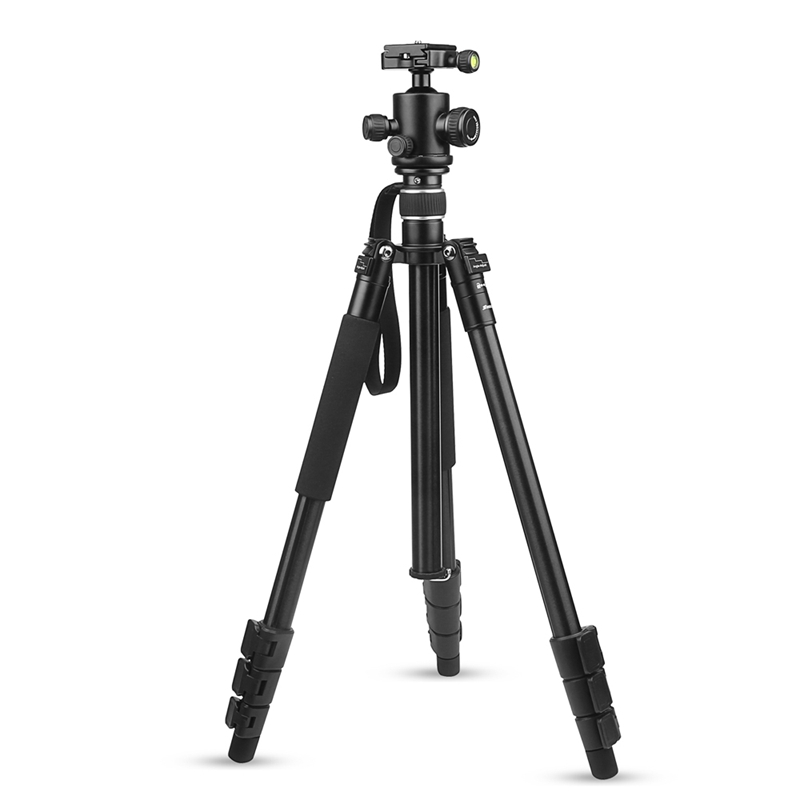 2018 New Camera Tripod Aluminum Alloy 4-Sections  for Canon for Nikon DSLR Stand With Ball Head 8kg Max Load 1.6m Max Height