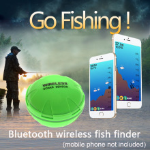 Fish Finder Portable Wireless Sonar 48M/160ft Depth Lake Detect Professional With Attracting lamp