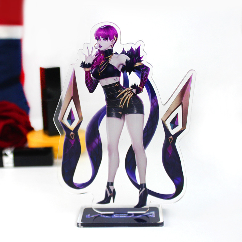 4 Types Game LOL KDA Figure Acrylic Stands Large Size Characters Acrylic Ornaments Fans Gift