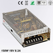 High Quality LED switching power supply dc18V power supplies 8.3A 150w transformer 110V 240V ac to dc smps for led display light цена