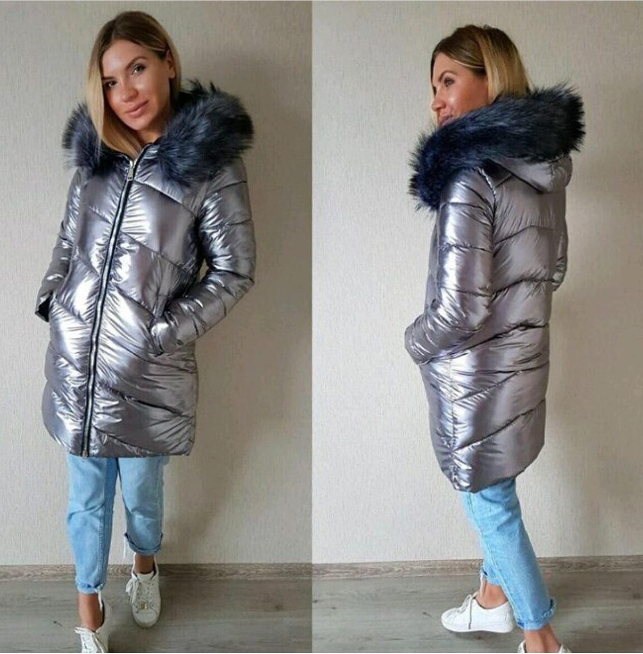 8089464044e4 Купить 2018 зимнее женское пальто с капюшоном, меховая женская парка,  толстая зимняя одежда, женские куртки, длинное теплое Женское зимнее пальто  Продажа ...