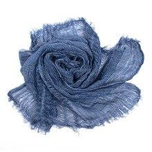 Японский стиль унисекс зимний шарф хлопок и лен однотонные длинные женские шарфы шаль винтажный зимний теплый мужской шарф