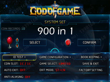 900 in 1 games GOD of GAME Jamma arcade Muti game board PCB Classic MAME game card