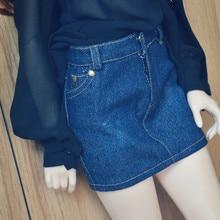 Джинсовая юбка для куклы BJD 1/4 1/3 SD10/13, SD16 Кукла Одежда по индивидуальному заказу CWB62