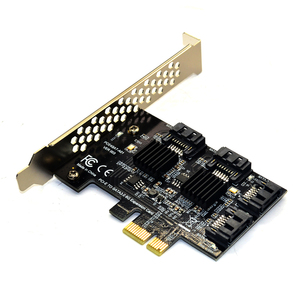 Image 5 - 4 port SATA 3.0 to PCIe expansion Card PCI express PCI e SATA Adapter PCI e SATA 3 Converter with Heat Sink for PC IPFS SSD HDD