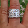 Brand clear Cubic Zirconia  micro pave setting Big wedding rings for women