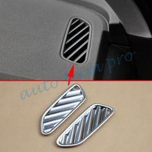 2 sztuk Chrome części wewnętrzne przedni wylot powietrza przepływu pokrywa zgrabna Fit dla Audi Q7 2016 2017 2018 akcesoria odlewnictwo dekoracji tanie tanio MYMOCCY For Audi Q7 0 07 kg 606413504557 ISO9001 15cm 11 cm Chrom stylizacja 100 2szt zestaw Fit For Audi Q7 2016 2017 2018