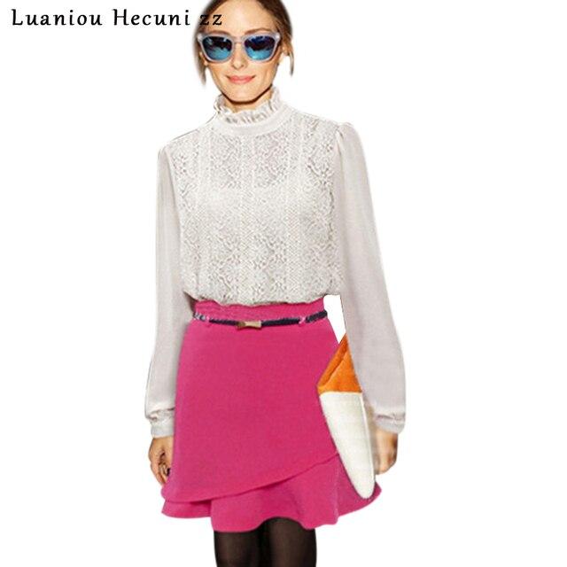 Chu Ni 2019 New Summer Hot Mini Skirts Women Casual Trumpet Short Skirt  European Style Solid High Waist Cotton Shirt LX02 051c7cbae