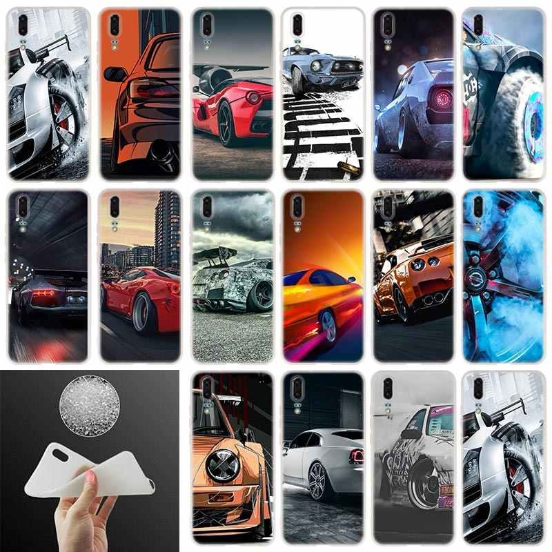 Soft Silicone Phone Case Car Speed Yokohama drift For Huawei P30 P20 P30Pro P10 P9 P8 Plus Lite 2017 P samrt 2019 Cover