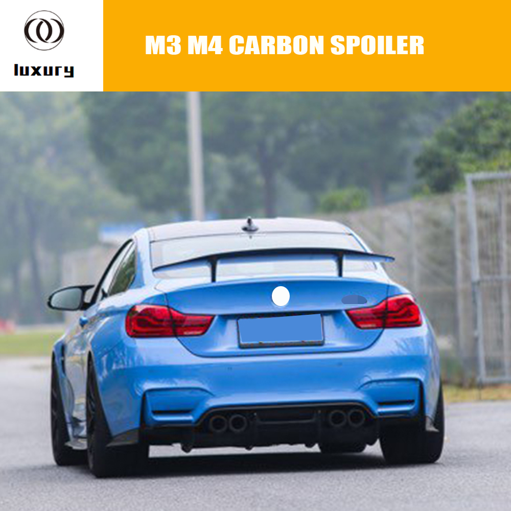 M3 M4 PSM GT Style Carbon Fiber Rear Wing Spoiler for BMW F80 M3 F82 M4 2014 2017