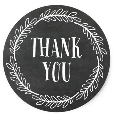 1 5inch Girly Chalkboard Wreath Thank You Stickers Sticker Crystal Chalkboard Materialstickers Fiat Aliexpress