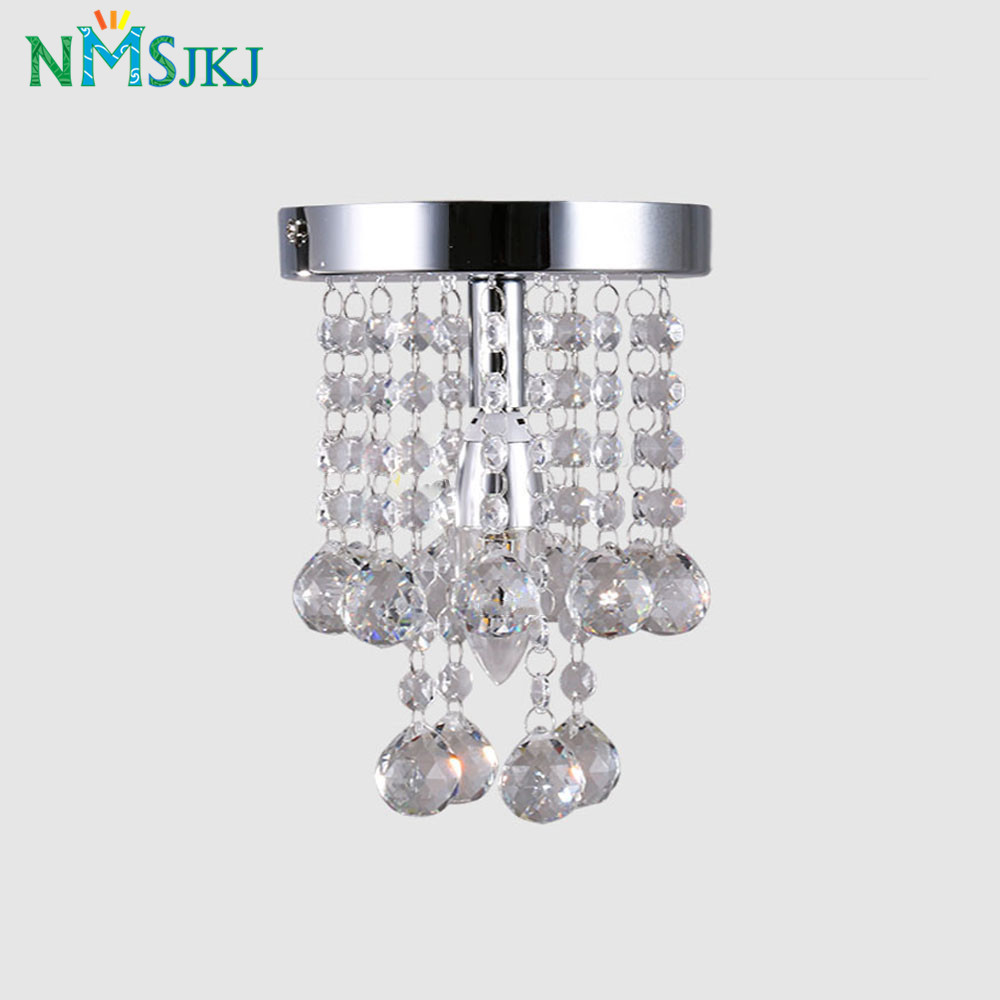 Image 3 - Modern Mini Rain Drop Small Crystal Chandelier Lustre Light With Top K9 Crystal Stainless Steel FrameD16cm H23cm-in Chandeliers from Lights & Lighting