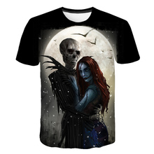 2019 Summer New Brand Alien T shirts Men Skull Print Forest Tshirts 3D Gothic shirt Mens Clothing Casual breathability