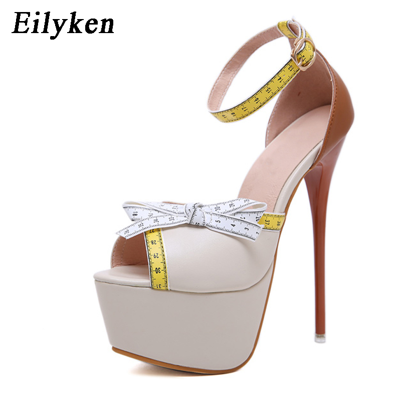 Eilyken Fetish Women Sandals Gladiator Party Ankle Strap Concise Ultra Very High heel Pumps 16cm Buckle Strap Sandals size 40Eilyken Fetish Women Sandals Gladiator Party Ankle Strap Concise Ultra Very High heel Pumps 16cm Buckle Strap Sandals size 40