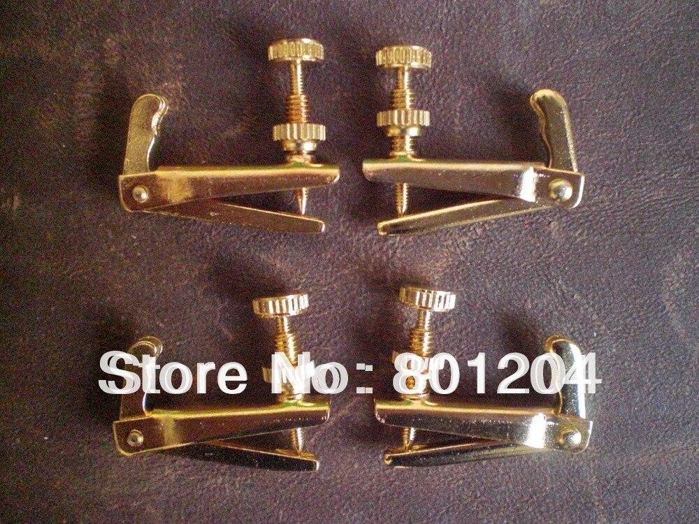 Brand new GOLD COLOR Violin fine tuners 100 pcs Full size brand new silver color viola fine tuners 100pcs