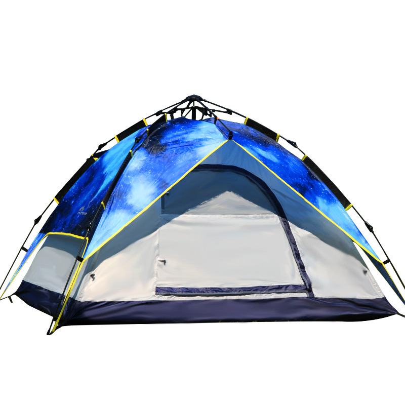 Flytop Hiking Camping Tent 2Use Picnic large luxury camping tents Hydraulic automatic Waterproof Double Layer Rainproof Tent outdoor camping hiking automatic camping tent 4person double layer family tent sun shelter gazebo beach tent awning tourist tent
