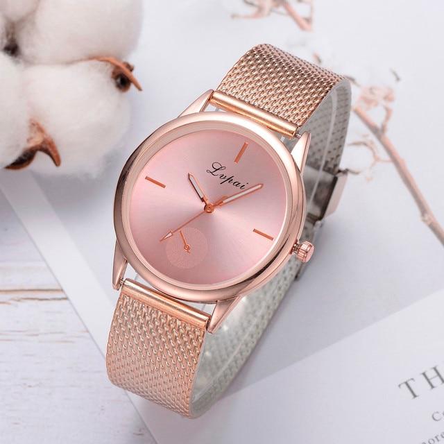 Stylish Women's Bracelet Watches Luxury Fashion Dress Quartz Watch Silicone Strap Band Watch Analog Wrist Watch Relogio feminino