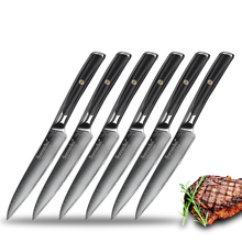 Steak-Knife-Set Chef's Japanese VG10 Meat Kitchen Damascus Steel SUNNECKO Dinner 6pcs