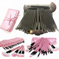 Professional Makeup Brushes 32 Pcs Cosmetic Kit Eyebrow Blush Foundation Powder Make Up Brush Set With