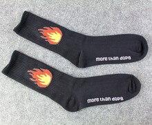 Very cool Unisex Baseball Socks Flame Fire for Skateboard Lovers