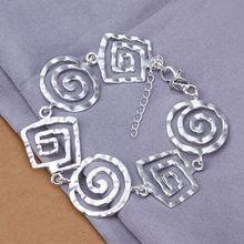Fina del verano del estilo de plata chapada pulsera 925-sterling-silver joyería bijouterie hilo pulseras de cadena para mujeres hombres SB324