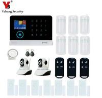 YobangSecurity Wireless Wifi GSM RFID Home Security Camera Alarm System With PIR Motion Detection Video IP