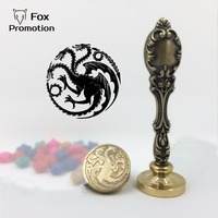 Hot Game Of Thrones Targaryen Wax Seal Stamp With Metal Handle Scrapbooking DIY Ancient Seal Retro
