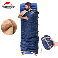 Naturehike Ultralight Portable Envelope Coral Velvet Sleeping Bag Outdoor Camping Travel Sleeping Bag NH17S015 S
