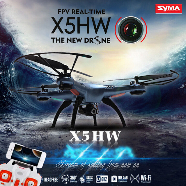 SYMA X5HW Câmera FPV Quadcopter com 2.4G 6-Axis FPV Zangão WI-FI Drone VS X5C X5SW X6SW X8W H8D JJRC RC Helicóptero Zangão