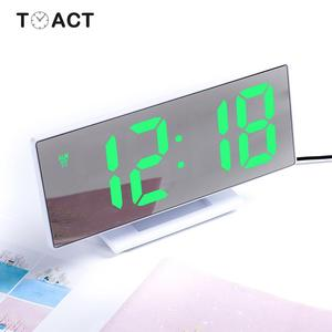 LED Mirror Digital Alarm Clock