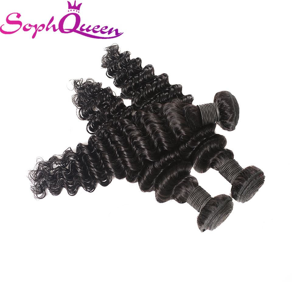 Soph Queen Hair Indian Deep Wave Bundles Unprocessed Virgin Hair Bundles Can Buy With Closure Hair