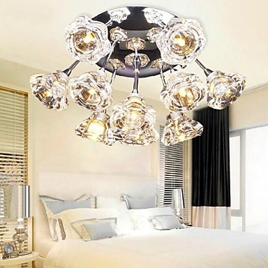 Modern Ceiling Light with 10 Lights living room lamp modern crystal chandelier  Free shipping d250mm crystal ceiling lamp bed room ceiling lights top crystal ball k9 crystal modern ceiling lights free shipping