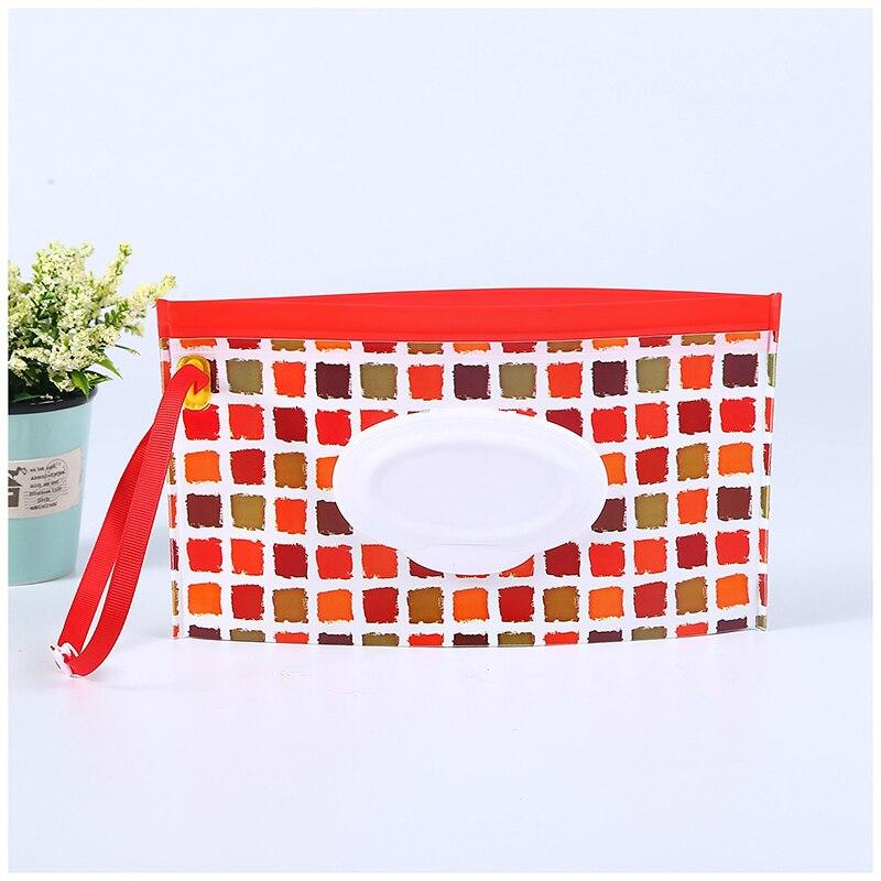 Экологически чистые влажные салфетки, сумка-раскладушка, косметичка, легко носить с собой, на застежке, салфетки, контейнер, клатч и чистые салфетки, чехол для переноски