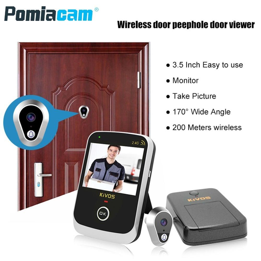 KDB307A 5pcs/lot New House Security HD Video Doorbell Wireless doorbell Peephole / Peephole Door Viewer Doorbell 5pcs lot ht1000 4 hssop 36 new