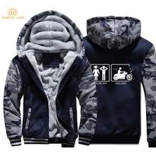 Funny Slogan Printed 2019 Winter Thick Warm Fleece Camouflage Hoodies Men Plus Size Sweatshirts Zip Jacket For Adult