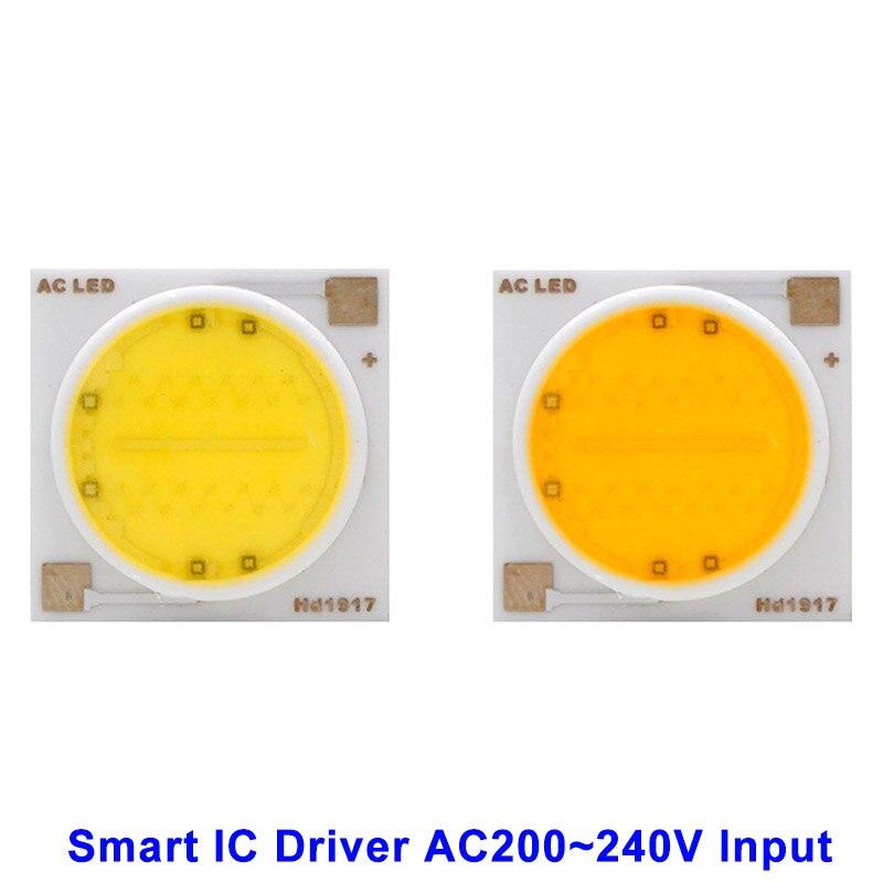 LED COB Lamp Chip 18W 15W 12W 9W 7W 5W 3W 220V Input Smart IC Driver Fit For DIY Floodlight Spotlight Cold Warm white 2pcs led lamp chip cob 100w 50w 30w 20w 15w 10w 220v 240v led cob chip cold warm white smart ic for diy led spotlight floodlight