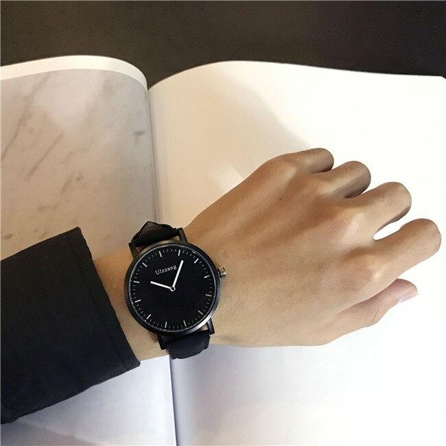 Fashion Black Casual Men Watches Simple Minimalism Quartz Wristwatch for Men Unique Classic Sport Business Dress Clock Gift 3ATM ...