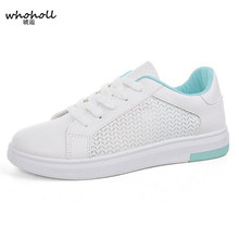 WHOHOLL Women White Flat Shoes 2019 Fashion Summer Hollow Out Breathable Casual Platform Woman Sneakers