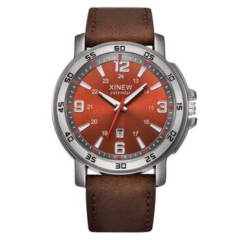 Mens Watches Fashion Leather Band Clock Men Business Date Quartz Wristwatch Men montre reloj Erkek Barato Saat relogio masculino