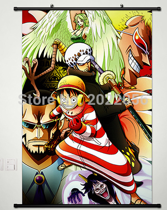 ᐃanime Manga One Piece Wall Scroll Peinture 60x90 Cm Image De Mur