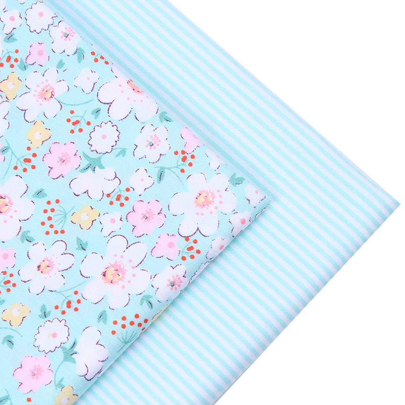 New 2pic lot 40 50cm flower cotton fabric tecidos algodao para patchwork sewi - Lot de tissu patchwork ...