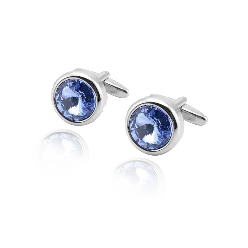 Luxury Jewelry Round Mens Cufflinks Quality Copper Shiny Exquisite Shirt Cuff Button Memorable Suit Wedding Gifts Men Cuff Links in Tie Clips Cufflinks from Jewelry Accessories