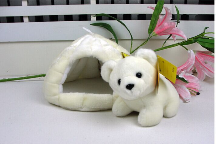 high quality goods,18cm lovely polar bear & its snowhouse 25cm plush toy ,Christmas gift h52 mcd200 16io1 [west] quality goods