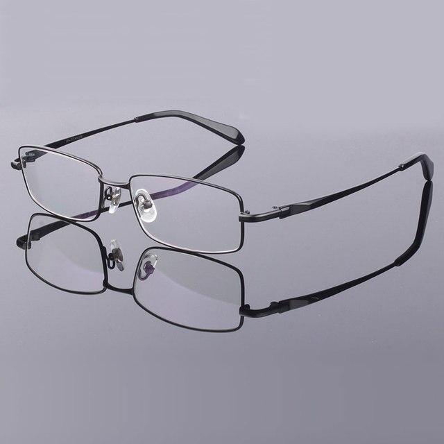 Aro completo Óculos De Titânio Puro Quadro para Homens Vidros Ópticos  Quadro Prescrição de Óculos Óculos 7b0747102b