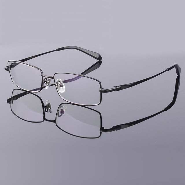 9989b0cead Full Rim Pure Titanium Eyeglasses Frame for Men Optical Glasses Frame  Prescription Eyewear Spectacles